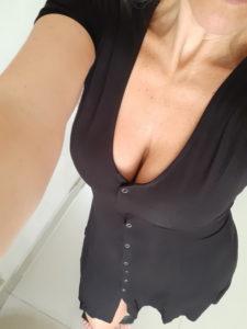 Vestido botones negro FOREVER 21